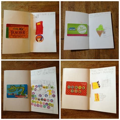 Gift Card Booklet - diy teacher gift handmade book with gift cards cuddles and chaos