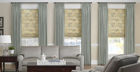 living room window blinds 3 day blinds offers soft roman shades with drapery panels
