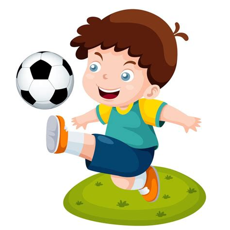 hombre de dibujos animados jugar futbol vector de stock fotomural ilustraci 243 n de dibujos animados ni 241 os jugando al