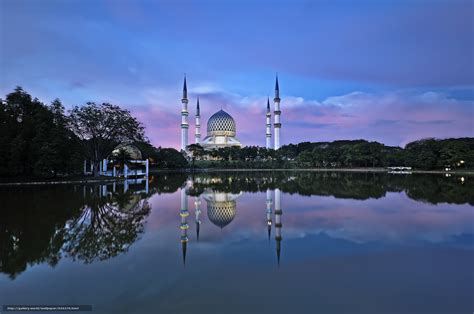 wallpaper desktop alam download wallpaper mosque shah alam water reflection