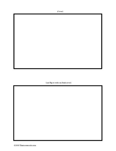 Blank F3 Pieces And Templates Archives That Resource Site Four Page Booklet Template