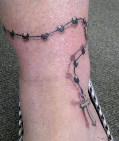 63 cool rosary tattoos on ankle
