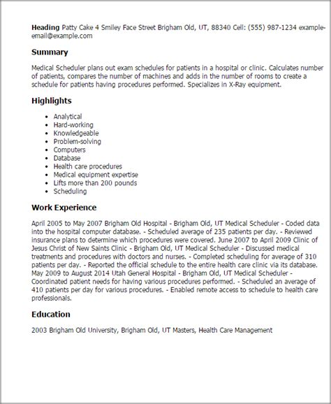 cover letter for scheduler scheduler resume template best design tips
