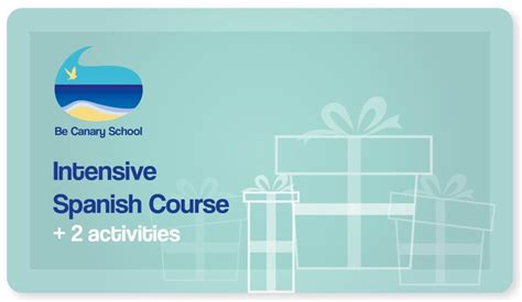 Gift Card Spanish - gift a spanish course be canary school