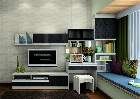 Modern Bedroom Tv Cabinet Italian Bedroom Wallpaper Rendering 3d House