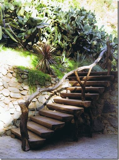 garden banister natural look for banister for outdoor steps garden