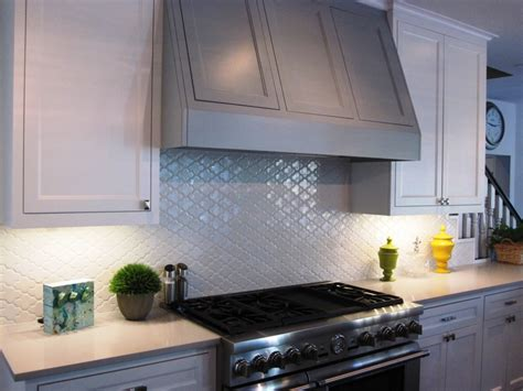 Moroccan Tile Kitchen Backsplash Kitchen Backsplash Is A White Moroccan Tile From Walker Zanger Designed By Goe At The Luxe
