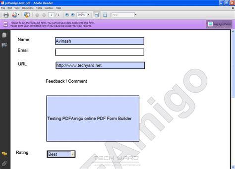 design form pdf create pdf forms online