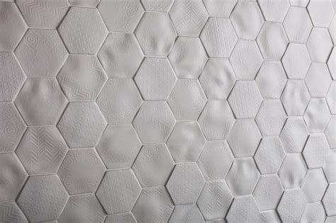 Stunning Botanical Wall Using Hexagon Tiles - johnson tiles absolute offers the tiles for 2015