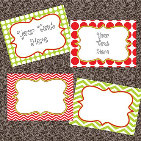 6 best images of free printable editable christmas tags