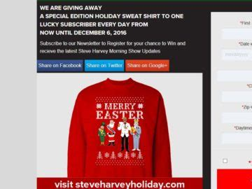 Steve Harvey Giveaway Today - steve harvey morning show s holiday sweatshirt giveaway sweepstakes