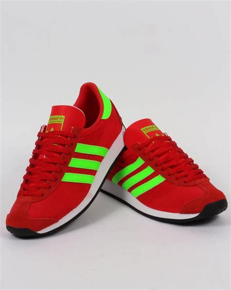 adidas country og trainers redsolar greenoriginalsshoes