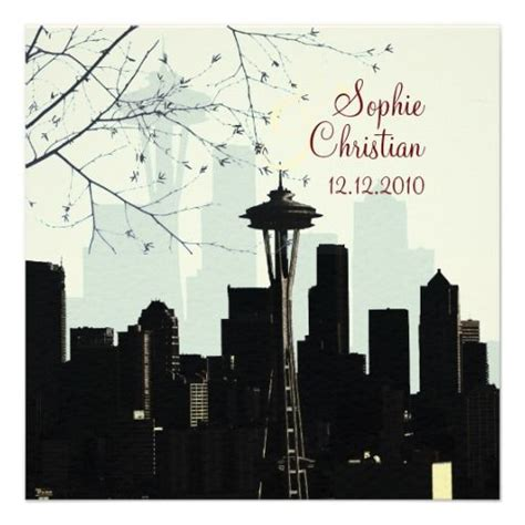 Wedding Invitations Seattle by 38 Best Seattle Skyline Wedding Theme Images On