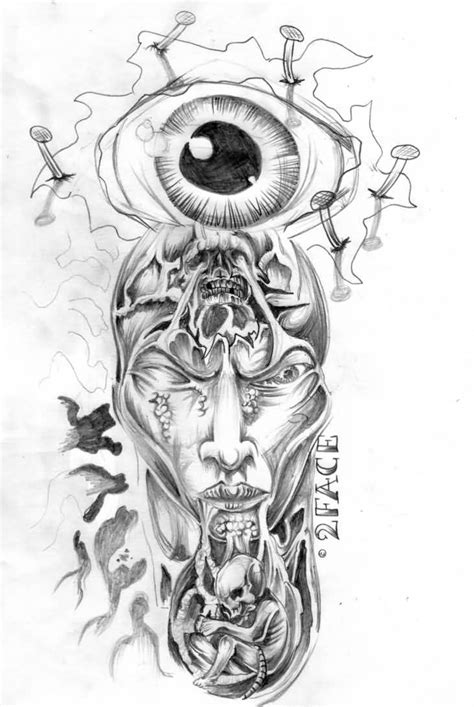 tattoo designs horror horror eye flash design tattooshunter