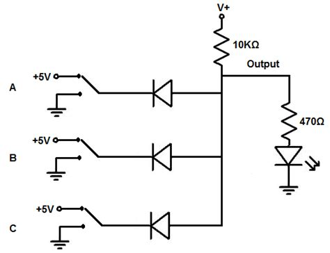 diode circuit for not gate how to build a diode and gate circuit