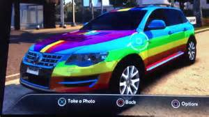 rainbow dash car
