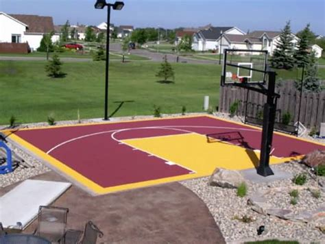 diy backyard basketball court outdoor basketball court tile for backyard courts