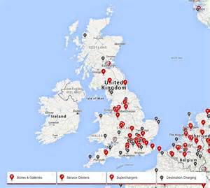 Electric Vehicle Charging Stations Uk Map Tesla S Destination Charging Scheme Comes To The Uk