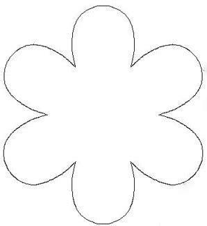 flower templates to cut out clipart best