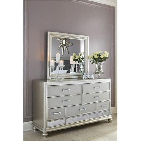 ashley furniture coralayne silver bedroom mirror