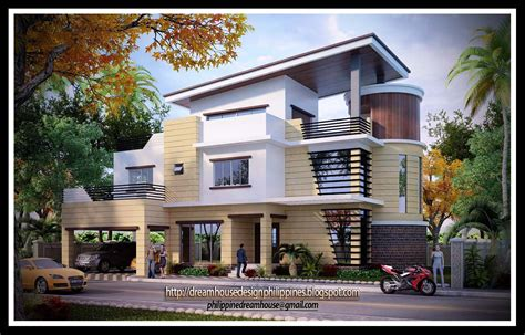 small two storey house design with terrace in the