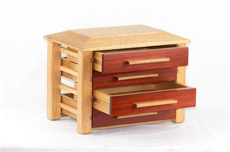 Wooden Drawer Fronts by Wooden Jewellery Box With Bloodwood Drawer