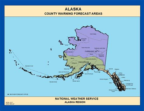 us map alaska state maps alaska county warning forecast areas