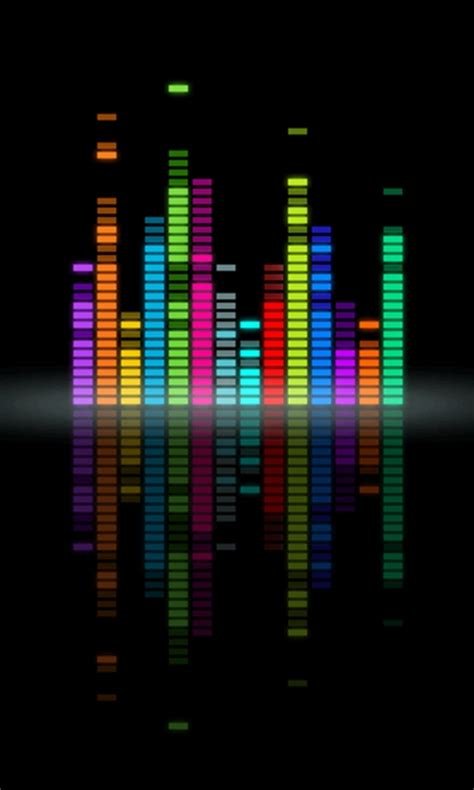 wallpaper 3d animation for mobile music equalizer lenovo mobile wallpapers 480x800 hd wallpaper