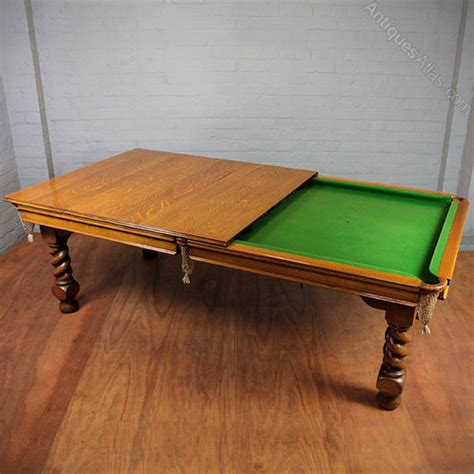 Snooker Dining Tables Uk Edwardian Oak Snooker Dining Table By Antiques Atlas