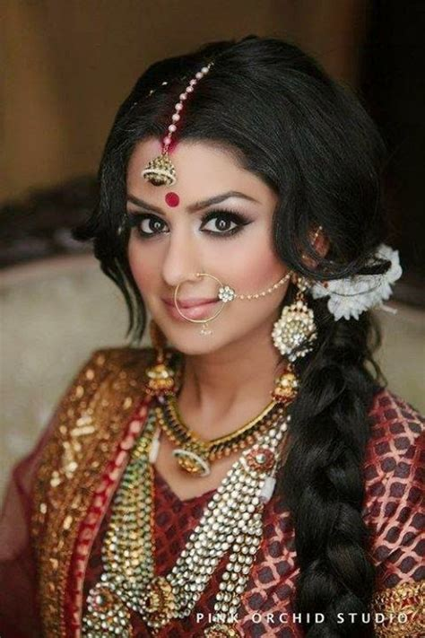hairstyles on indian outfits indian brides hairstyles 2014 2015 chal abay