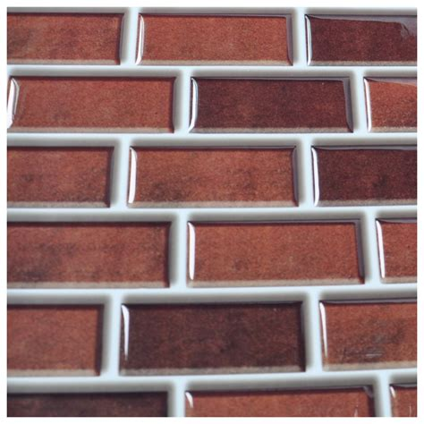 Peel And Stick Kitchen Backsplash Tiles 6 pack peel and stick brick backsplash tiles kitchen smart