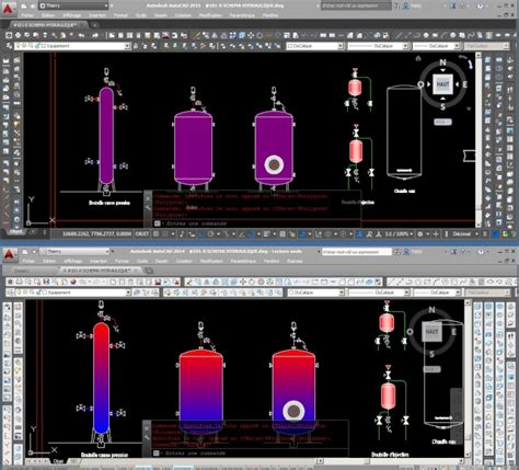 Autocad 2015 above below autocad 2014 with the same file