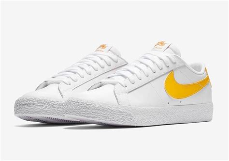 Nike Sb Blazer Navy White nike sb blazer low navy yellow