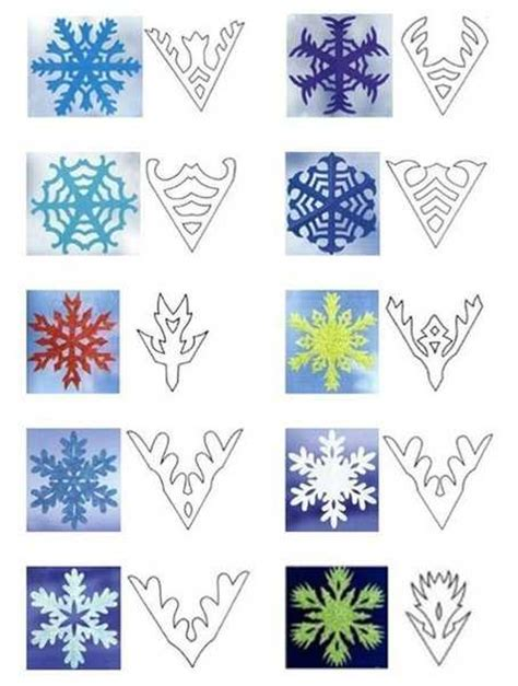 Make Paper Snow Flakes - 40 paper snowflake garlands for decorating
