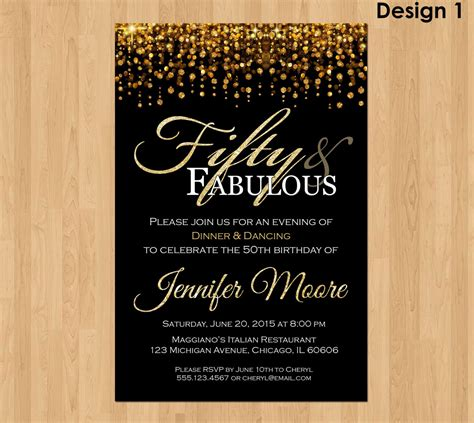 50th birthday invitations 50th birthday invitations for
