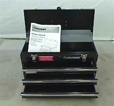 Husky 3 Drawer Portable Tool Chest With Tray by Husky 3 Drawer Portable Tool Chest With Tray Ebay
