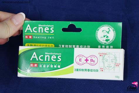 Acnes Sealling Jell mentholatum acnes sealing jell review annabeautybox