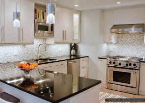 contemporary kitchen black granite countertops with tile