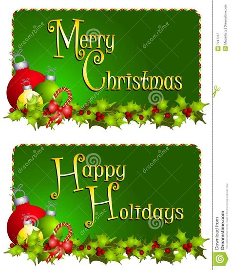 merry clipart merry banners stock illustration illustration