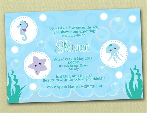 the sea baby shower invitations free templates