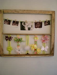 thrifty decorating old window hairbow holder old window bow holder crafts pinterest bow holders