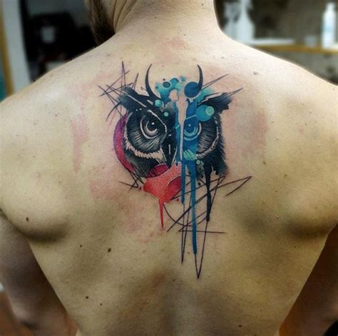abstract owl tattoo best 25 watercolor owl tattoos ideas on