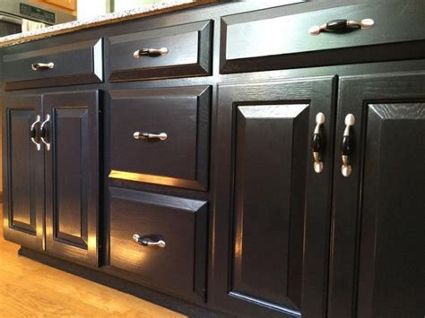 best top coat for kitchen cabinets kitchen island transformation using black gel stain and