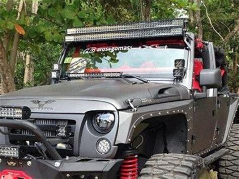 Jeep Wrangler Lights Jeep Wrangler 2007 2015 Dual Led Light Bar And Spot Beam