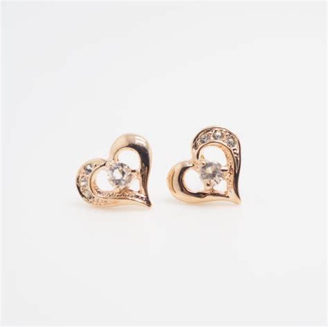 gold earring earrings simple