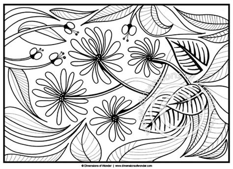 imgs for gt abstract flower coloring pages