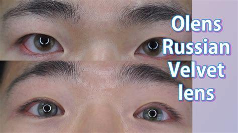 Softlens Korea Russian Velvet Brown 남자가 혼혈렌즈 솔로티카 저렴이 오렌즈 러시안 벨렛 리뷰 Tries On Korean