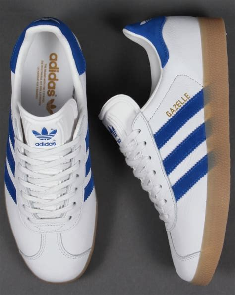Sale Sepatu Casual Adidas Gazelle Gum Made In adidas gazelle leather trainer white royal originals mens
