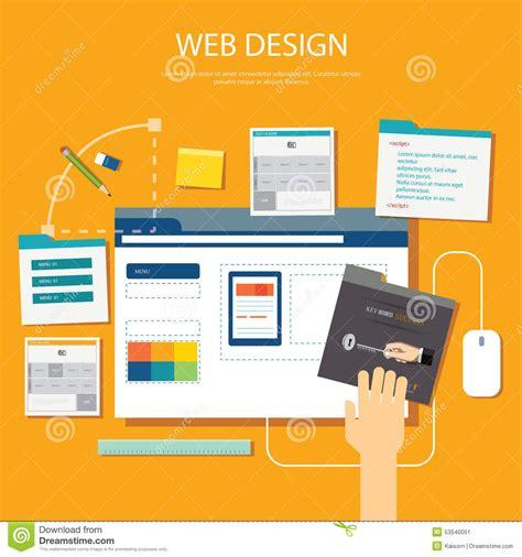 homepage design concepts website development project design concept stock vector