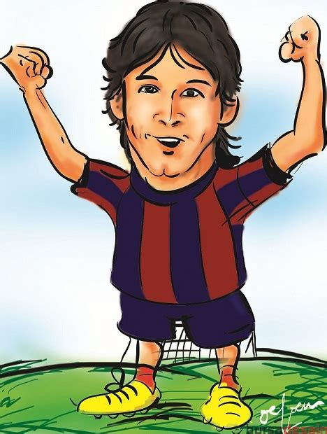 Kaos Bola Messi Karikatur gambar messi jasa desain logo perusahaan grafis